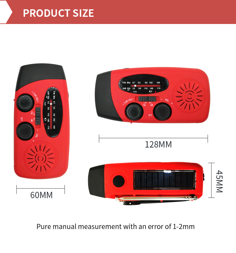 New Products AM/FM 2 Band Portable Style Radio with 2000mAh Power Bank for Mobile Phone Charger