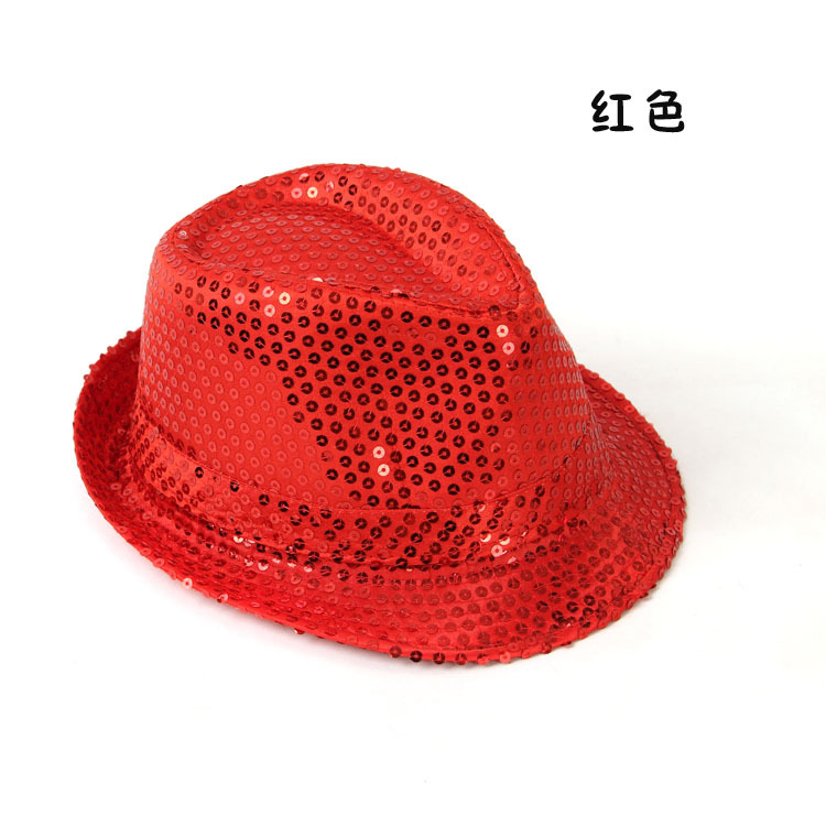 2020 Manufacturer Supplier Manufacture Flashing Fedora Hat For Party Light Jazz Hat