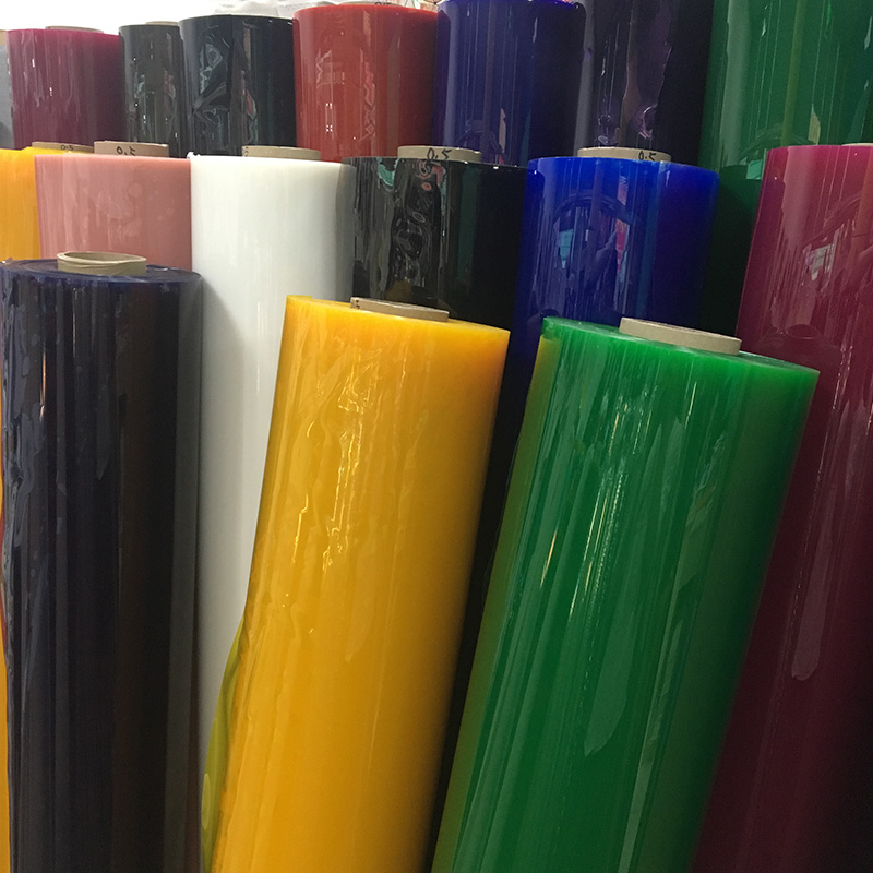 TPU coloured transparent  film  for making bags and raincoat