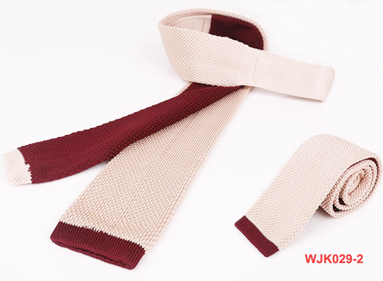 Necktie Wholesale Men's Solid Beige Knitted Neck Ties
