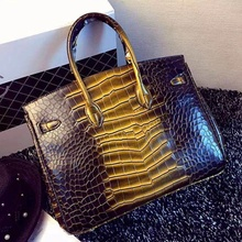 Good embossed PU crocodile skin for bag making