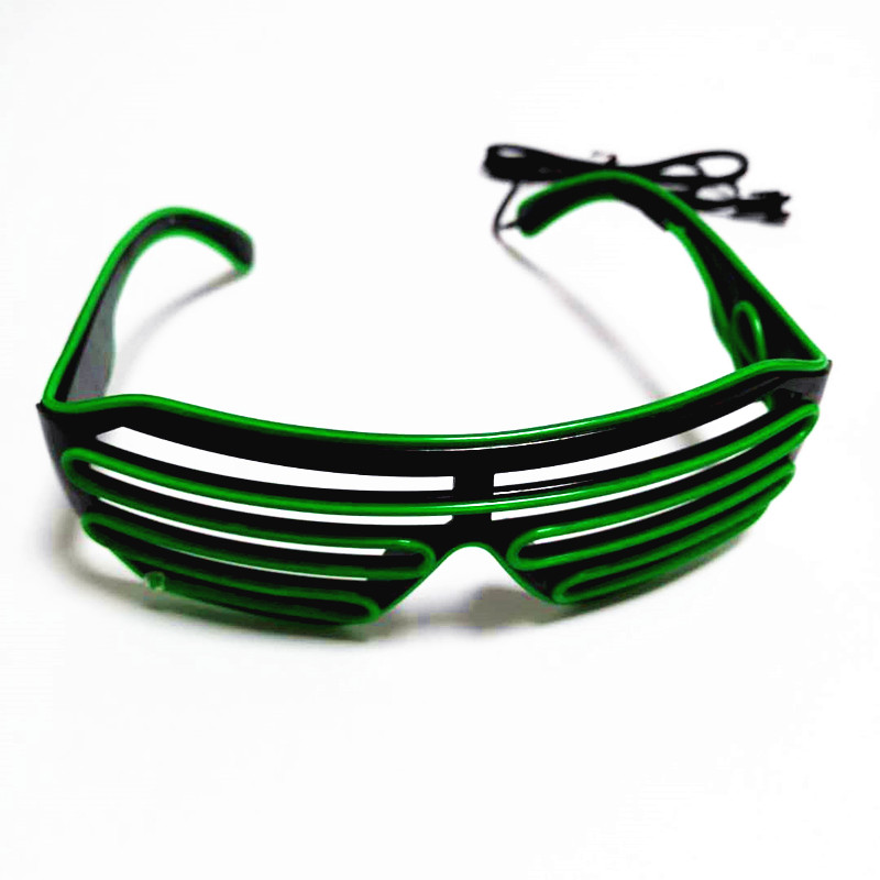2020 Sound Reactive LED EL Wire Shutter Glasses for Party Festivals
