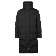 <strong>Men's</strong> Thick Black Quilted Long Hooded Down <strong>Jacket</strong>