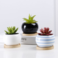 Garden and Home multicolor glazed ceramic cylindrical flower pots for sale