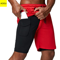 Bodybuilding Shorts Gym Fitness Combat Sports Basketball Men's Shorts with Inside Pockets