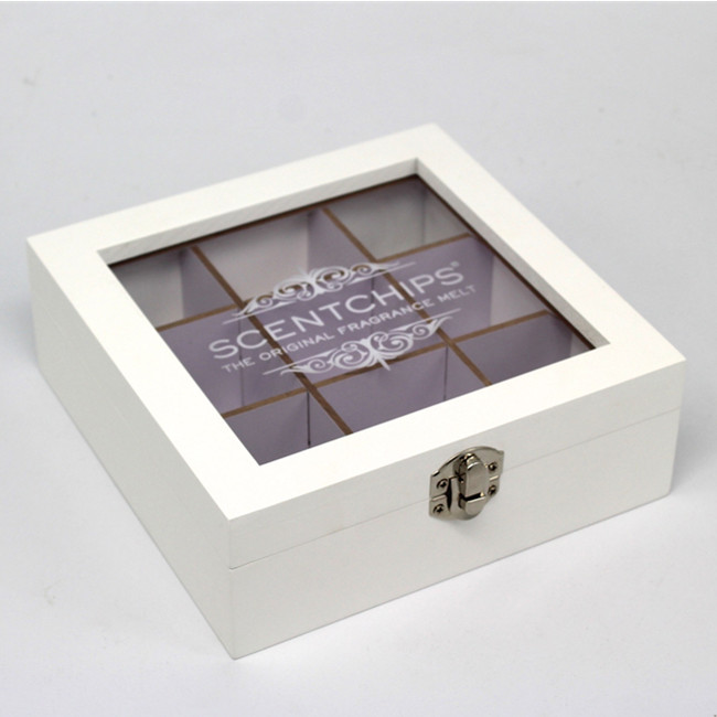 Customize Logo Factory Supply  Product  Wooden Box with Transparent Lid