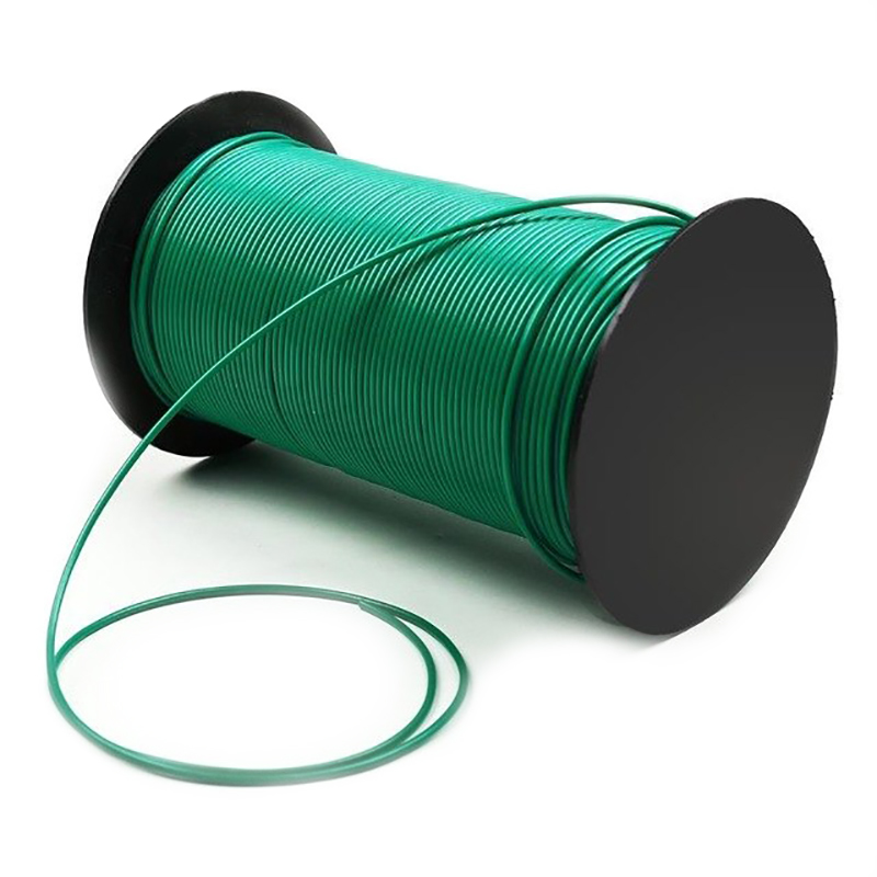 Perimeter Wire Boundary Wire Robot Lawn Mover Wire Green Yellow 2.7mm Bare <strong>Copper</strong> in Swedish market
