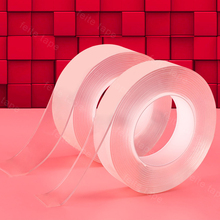 Double Sided Adhesive Tape High Strength Acrylic Gel Transparent No Trace with Plastic release <strong>paper</strong>