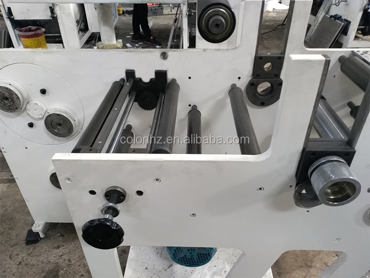 Hot sale roll to roll label rotary cutting slitting rewinding machine for blank label