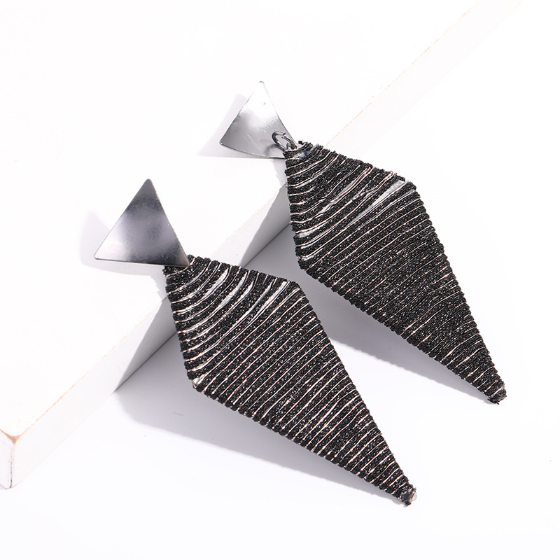 KDB2977 Popular black thread earrings for women jewelry
