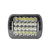 FORTEK 74w waterproof <strong>10</strong>-30v <strong>auto</strong> cree chip LED work light 7 inch 24PCX3W Cree+20PC <strong>X</strong> 0.1w square led light 6pcs led work light