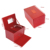 Fashion custom logo travel red leather jewelry box