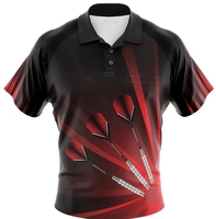wholesale OEM customized sublimation team dart t shirt with logo design with pocket