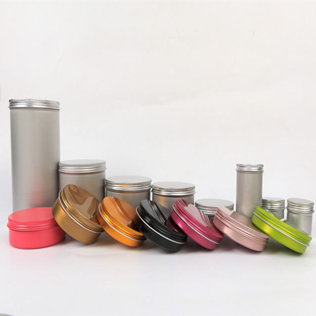 rose gold/pink/matte black aluminum tin 50g/150g,colorful printing aluminum candle tin,pink metal tins round shoe polish