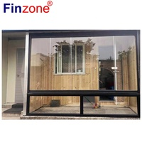 residential frameless sliding glass folding doors with high quality free open