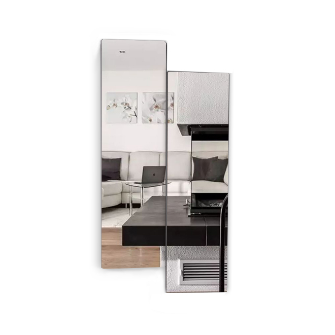 Full Length Wall Mount Frameless Mirror for Make up and Wall Decor,2-Piece Set Free Combination,Living room/Bedroom/Bathroom