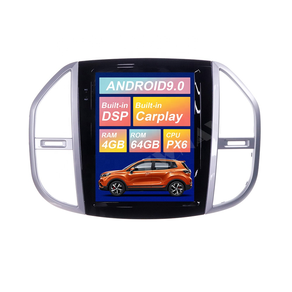 ZWNAV Android 9.0 4GB+64GB Tesla Style Car GPS Navigation for Mercedes Vito W447 W639 W176 <strong>W115</strong> Multimedia Player