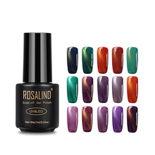 Rosalind nail suppliers soak off magnetic color gel nail polish UV <strong>LED</strong> cat eye gel polish for nail art salon