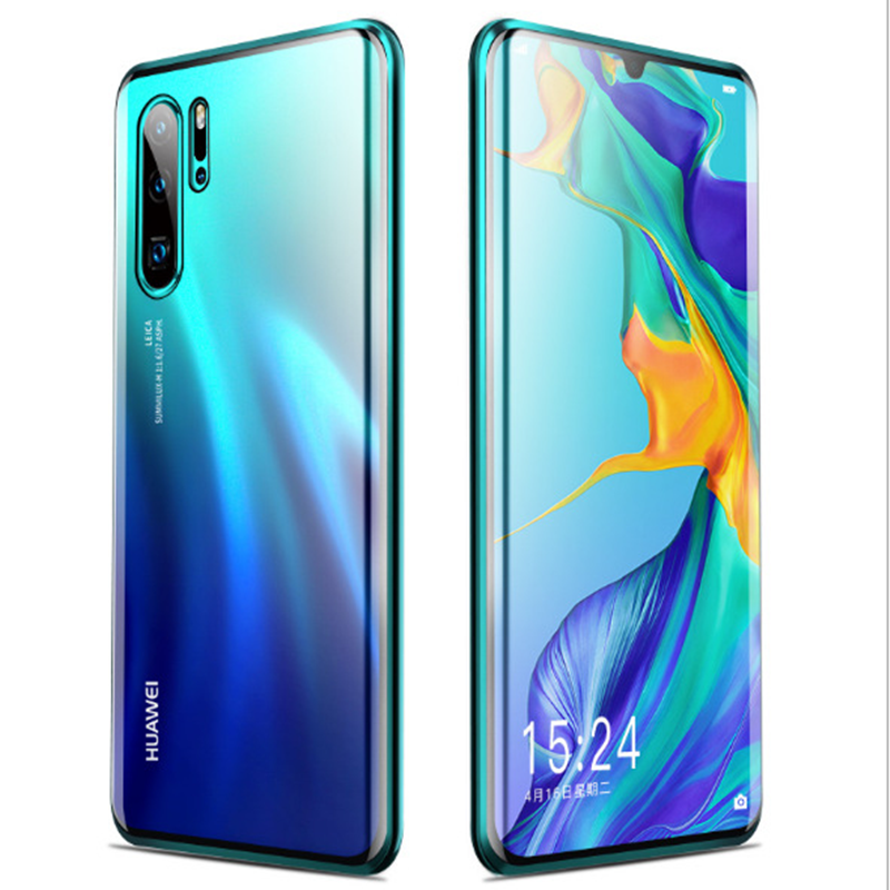 second generation front back tempered glass double side magnetic adsorption metal <strong>case</strong> cover for huawei Honor 20 Pro phone <strong>case</strong>