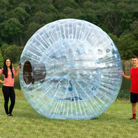 customized 2019 hot selling fluorescent inflatable zorb ball glow human sized hamster ball