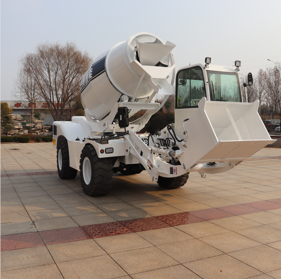 mobile concrete mixer YUGONG brand hot sale in Russia