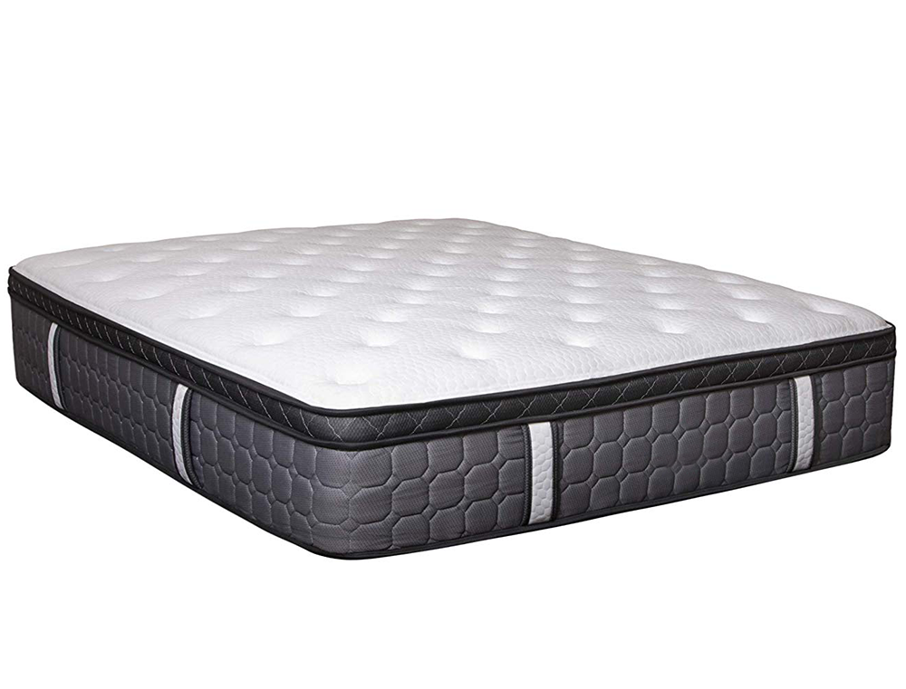 Luxury Hotel Mattress with Euro Pillow Top King Hybrid Pocket Coil Foam Mattress, 13 Inch - Jozy Mattress | Jozy.net