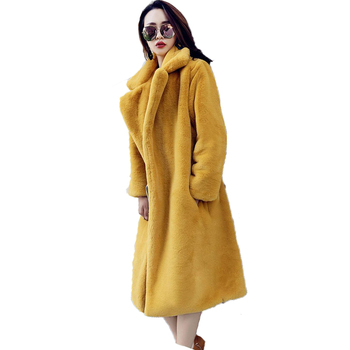 New design winter casual long wool with fox fur women woman coat for wholesales