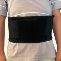 Adjustable Double Pull Lumbar Brace Back Support Waist Belt Black sports safety