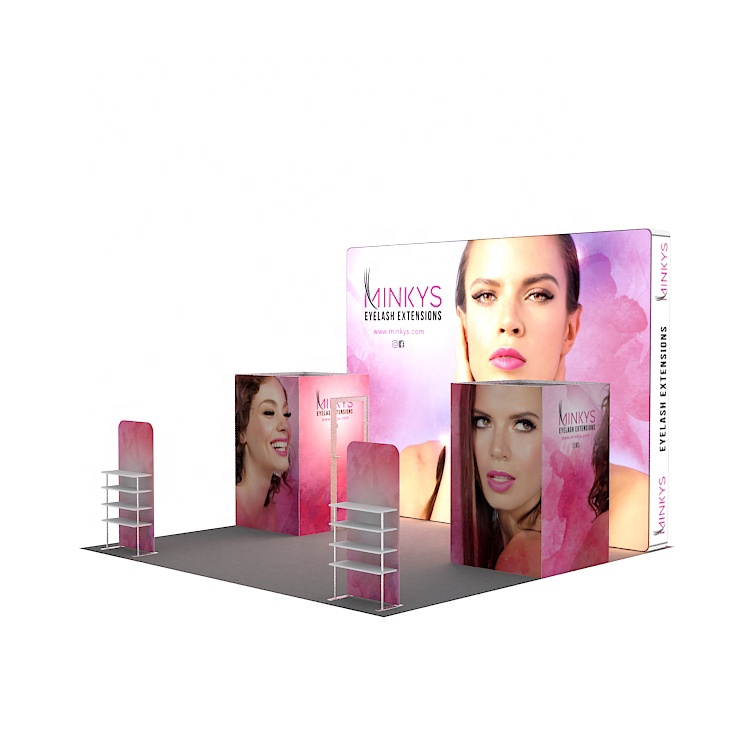 20x20 fashion design led exhibition booth material for cosmetic trade <strong>show</strong>