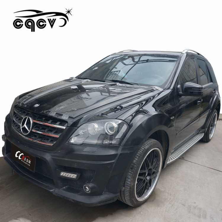<strong>W164</strong> body kit assembly for <strong>Mercedes</strong> Benz ML CLASS with front bumper rear bumper and wide flare carbon fiber fenders