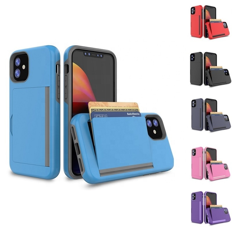 3 in 1 Credit Card Holder Slot Smartphone Cell Phone Covers For iPhone 11 Skin <strong>Case</strong>