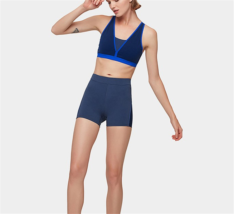 Repreve Recycled sustainable plastic fabric athleisure seamless fitness strappy yoga wear sports bra leggings yoga two piece set