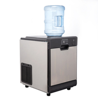 Built-in water tank automatic big capacity ice tube maker machine with cold water dispenser