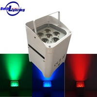 battery powered wireless dmx led lights 6*18w RGBWA+UV 6in1 wireless control led uplight