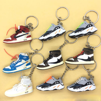Wholesale best quality mini pvc 3d sneaker keychain as promotion gift for nike/yeezy/air jordan