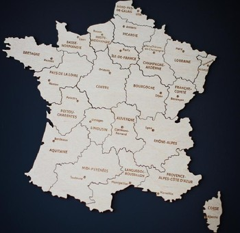hot sale product France Magnetic Wooden Puzzle Map