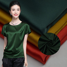 Anti-Static <strong>100</strong>% polyester cotton feel soft dull face satin fabric for dress lining