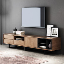 lumi Simple particle board Wood <strong>Furniture</strong> Modern room divider halterung Corner Wooden White Mdf Luxury Cabinet Tv Stand