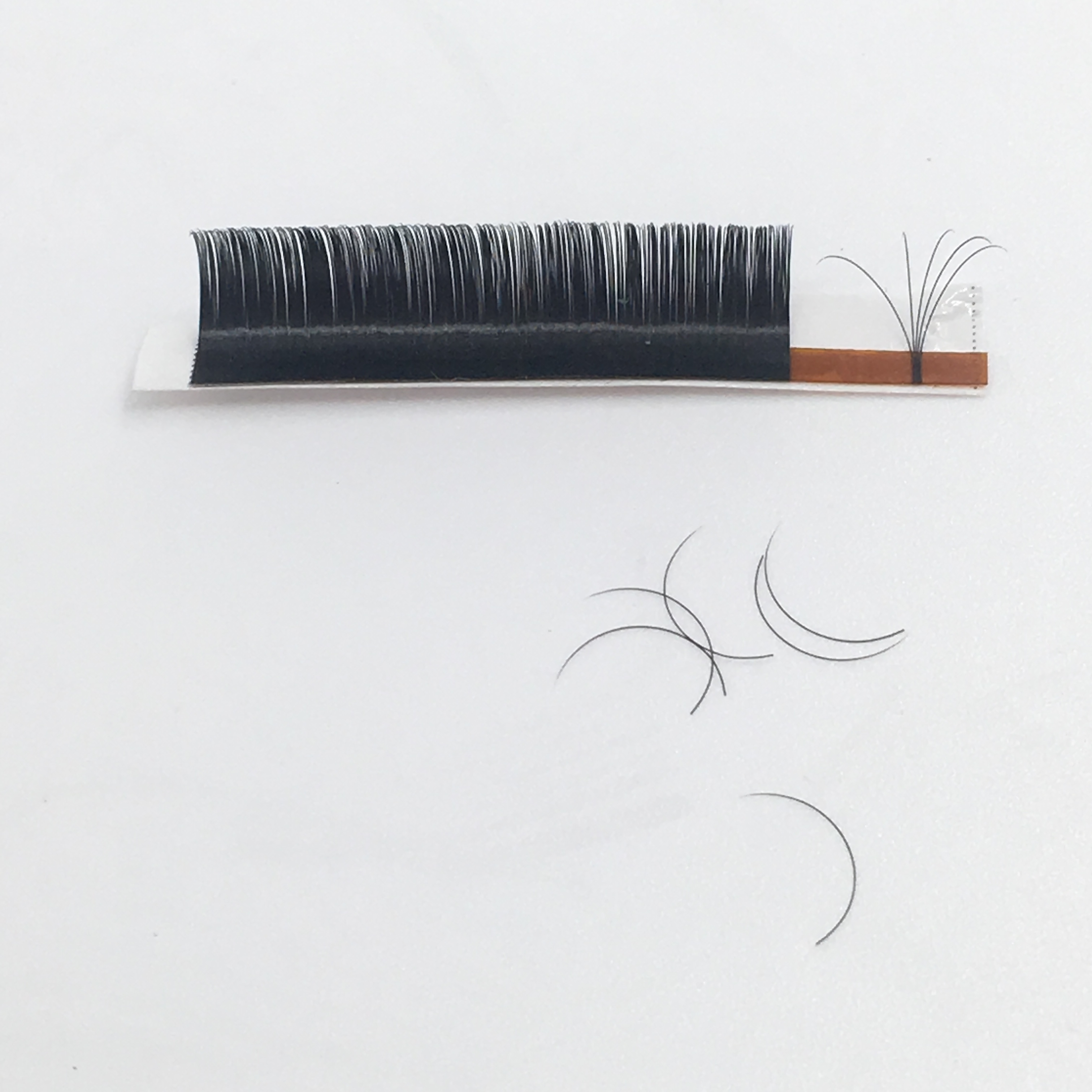 Flourishing mix lashes 8mm-15mm D C <strong>J</strong> B curl classic single lashes one by one silk false eyelashes extension lashes