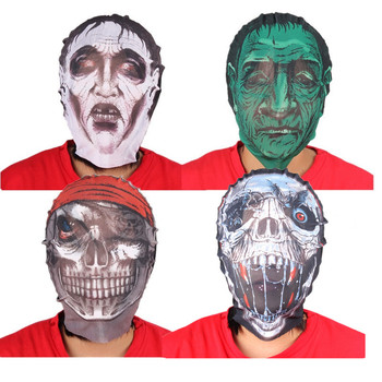 halloween scary head face mask mesh halloween headgear props and decoration