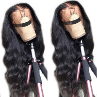 Yeswigs Natural Wave 13*4 Lace Frontal Human Virgin Hair Wigs Full Cuticle Aligned Unprocessed Indian Virgin Hair Wigs Body Wave