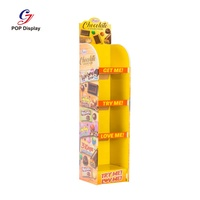 Kids Toy Biscuit Baby Products Cardboard Display Stand For Chocolate, Cardboard Display, Candy Cardboard Display
