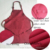Factory price direct sales cute style children solid color polyester apron kids aprons