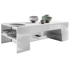 large white high gloss mdf modern storage center coffee <strong>table</strong>