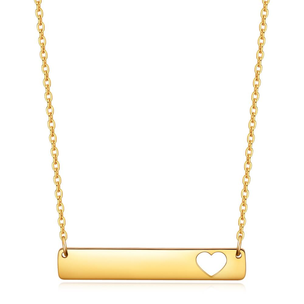 Dylam jewelry Fashion Simple Gold Plated Heart Love Stainless Steel Necklace for Women 2020 From China Manufacturer