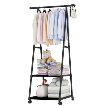 Morden metal standing cheap assemble coat racks with shoe stand