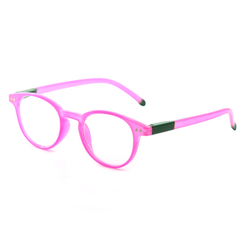 FONHCOO China New Style Custom Made Fashion Design Pink Round Frame Women Reading Glasses