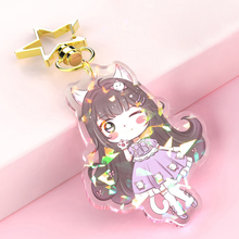 Vograce promotional custom no minimum cheap blank  anime acrylic keychain charm for promotional