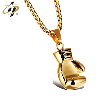 Wholesale cheap gold sliver black metal high quality boxing glove shaped pendant necklace