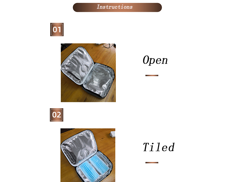 Portable USB Rechargeable LED UV Sterilizer Bag